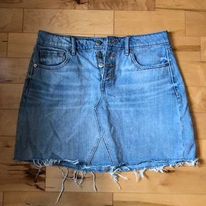 Old Navy | High-Waisted Button-Fly Jean Skirt
